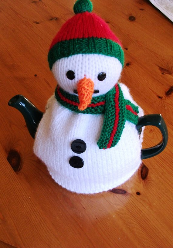 Beautiful Snowman Tea Cosy Cozy Hand Knitted Uk Seller Snowman Knitting Pattern Of Attractive 40 Images Snowman Knitting Pattern
