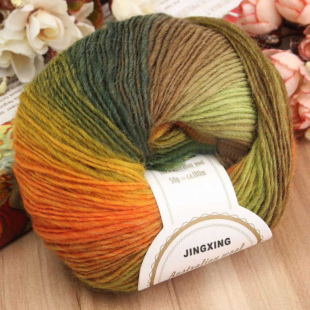 Beautiful soft Cashmere Baby Wool 50g Ball Rainbow Colorful Knitting Baby soft Yarn Of Gorgeous 49 Pictures Baby soft Yarn