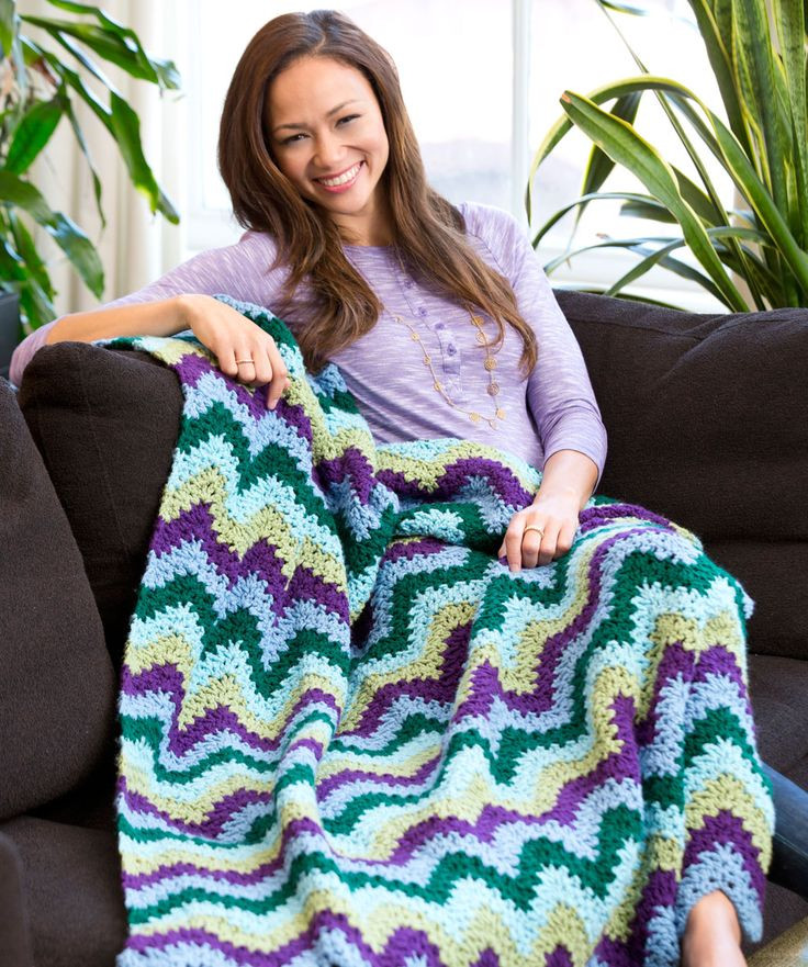 Beautiful Splendid Ripple Throw Free Crochet Pattern From Red Heart Red Heart Yarn Free Patterns Of Superb 44 Pics Red Heart Yarn Free Patterns