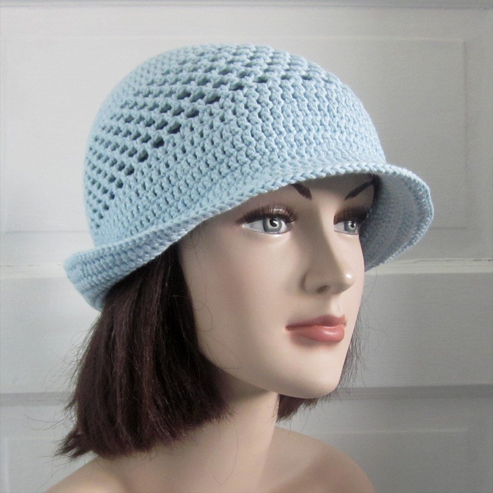 Beautiful Spring Summer Crochet Hat with Brim Icy Blue Crochet Summer Hat Of Awesome 45 Images Crochet Summer Hat