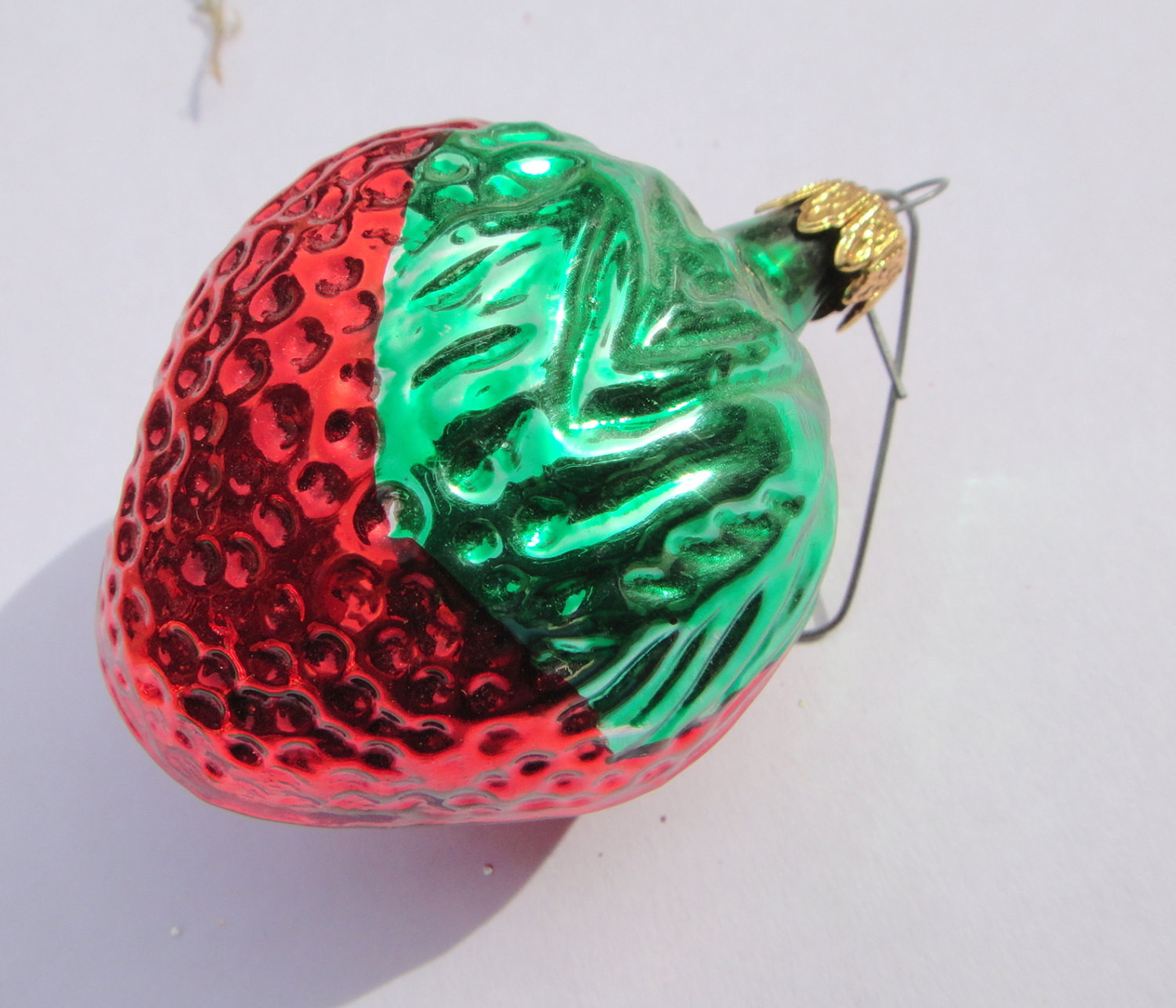 Beautiful Strawberry Christmas ornament German Glass Vintage by Vintage Glass ornaments Of New 48 Ideas Vintage Glass ornaments