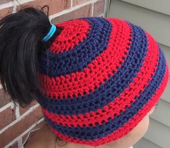 Beautiful Striped Beanie with Ponytail Bun Hole by Wewearcrochet On Etsy Beanie with Bun Hole Of Amazing 46 Photos Beanie with Bun Hole