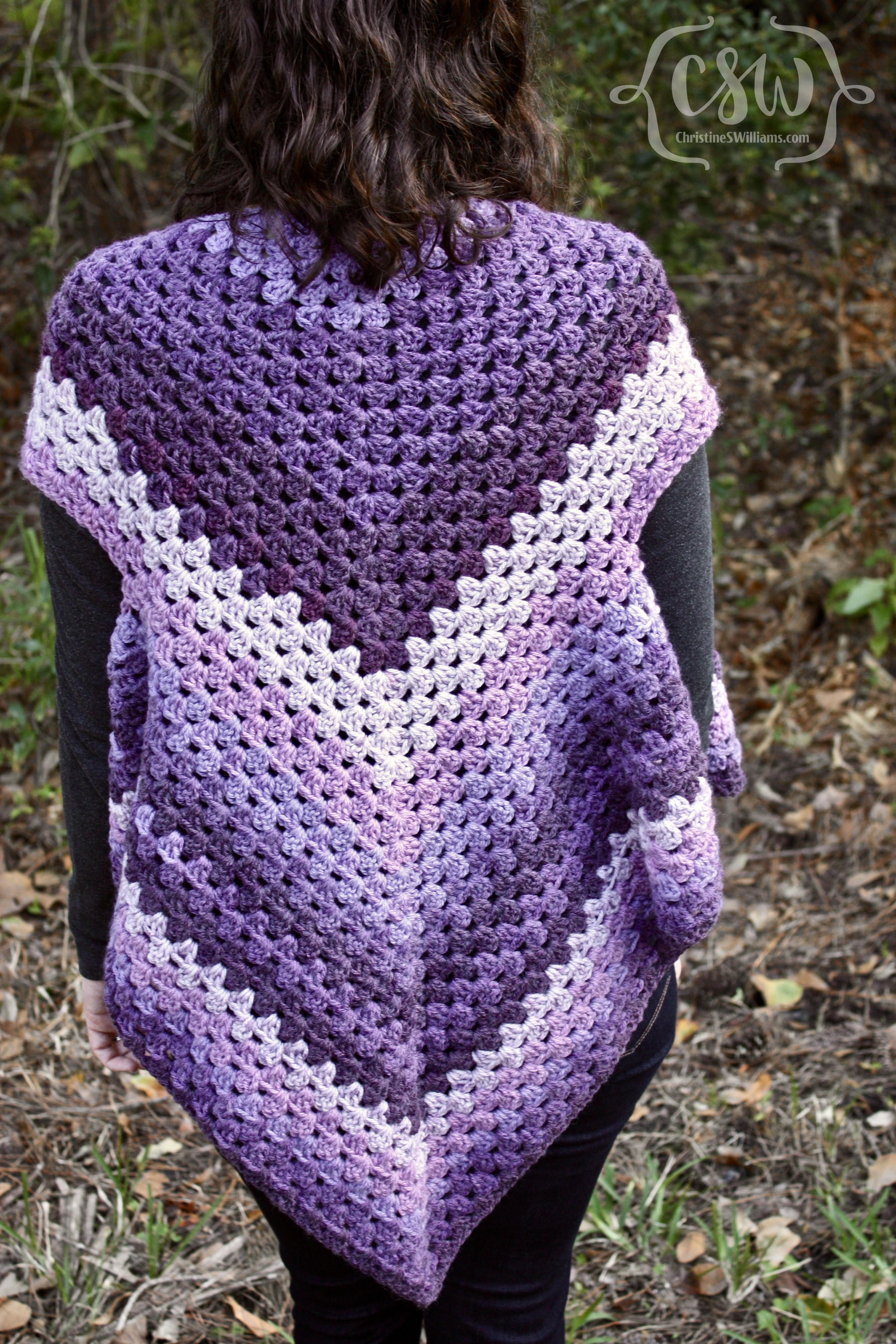 Beautiful Striped Granny Stitch Caron Cakes Triangle Shawl Caron Chunky Cakes Of Amazing 43 Pictures Caron Chunky Cakes