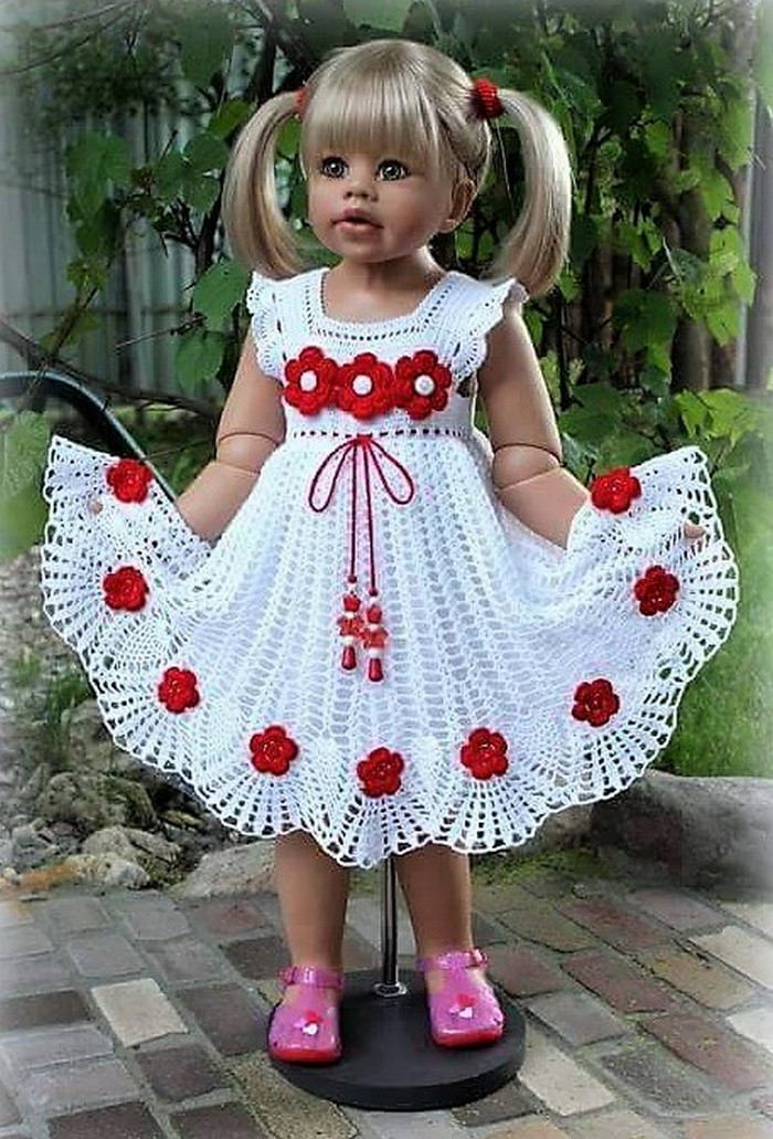 Stunning Designs for Crocheted Baby Girl Dresses