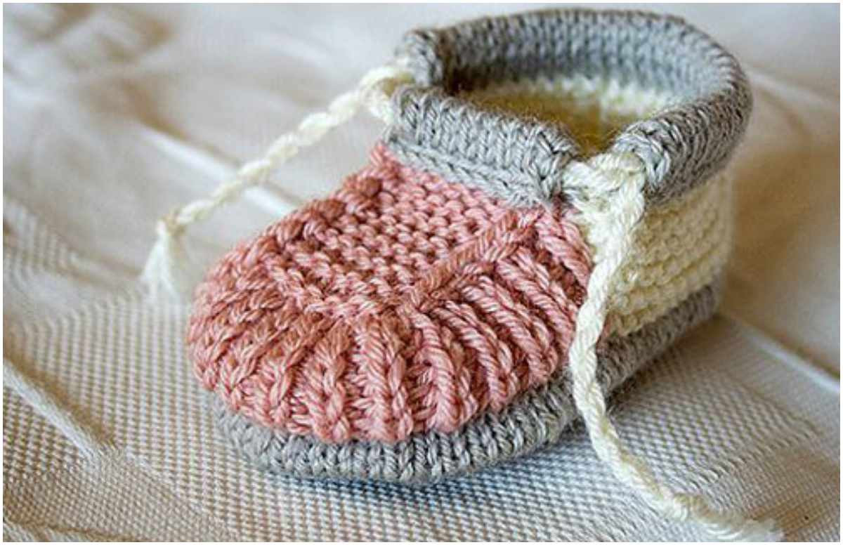 stunning knitting baby booties