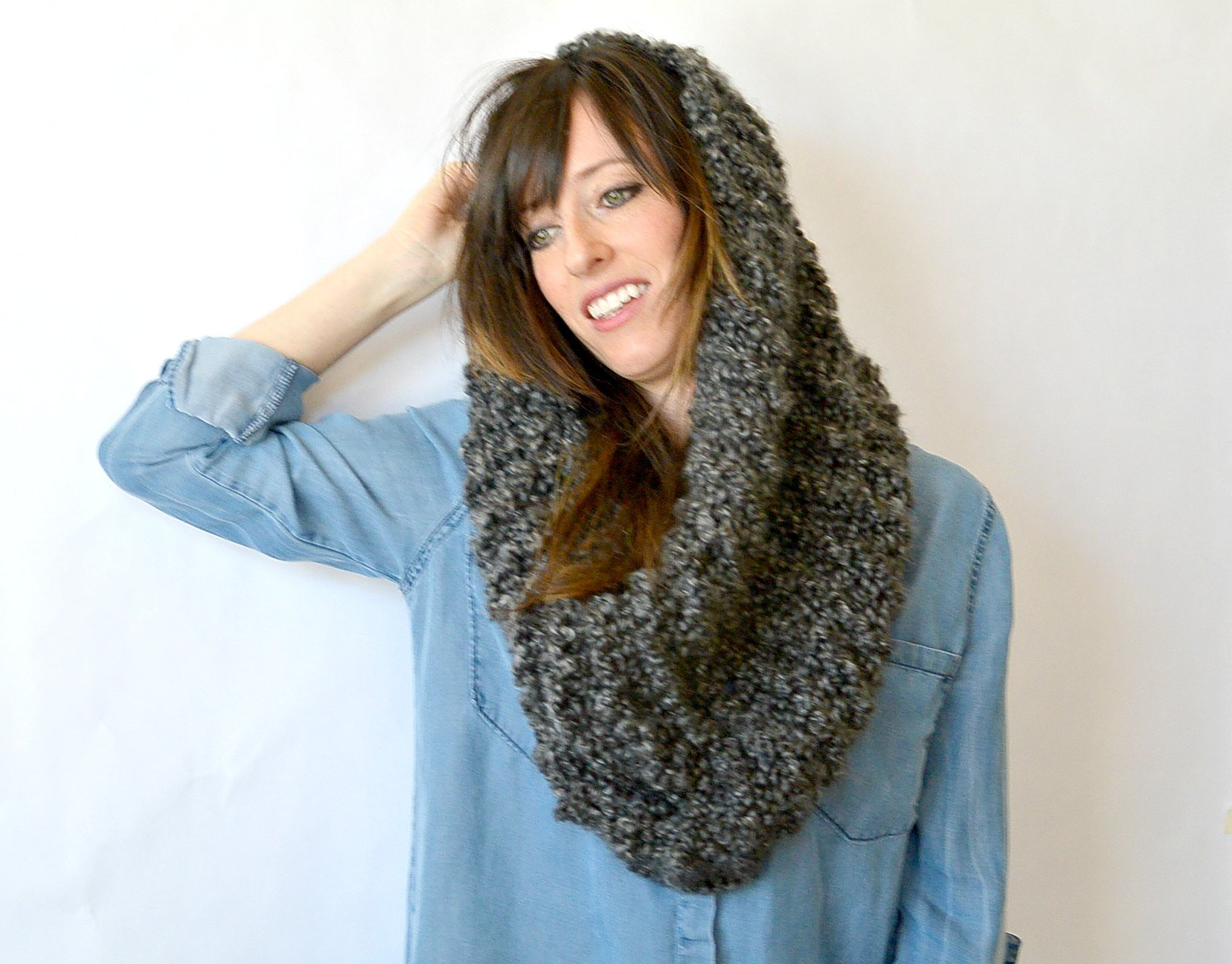 Style with cowl knitting pattern cottageartcreations