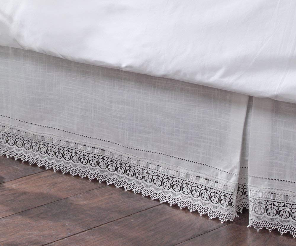 Beautiful Stylemaster Renaissance Home Fashion sophia Dust Ruffle Crochet Bed Skirts Of Gorgeous 41 Pics Crochet Bed Skirts