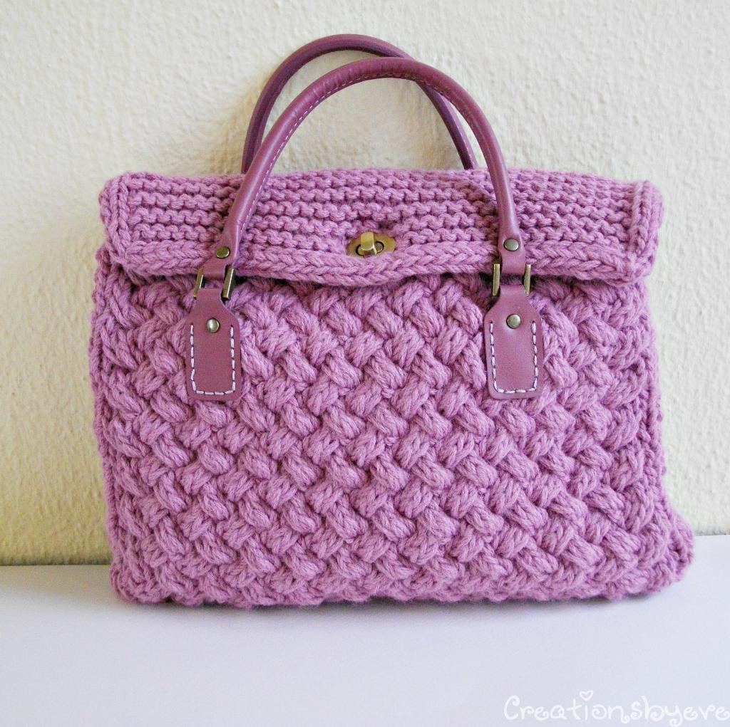 Beautiful Textured Bag Knitted with Woven Pattern by Evelyn S Craftsy Knitted Purse Of Amazing 41 Pics Knitted Purse