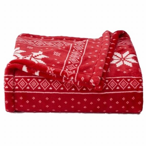 Beautiful the Big E Plush soft Red nordic Snowflake Oversized Snowflake Blanket Of Lovely 50 Models Snowflake Blanket