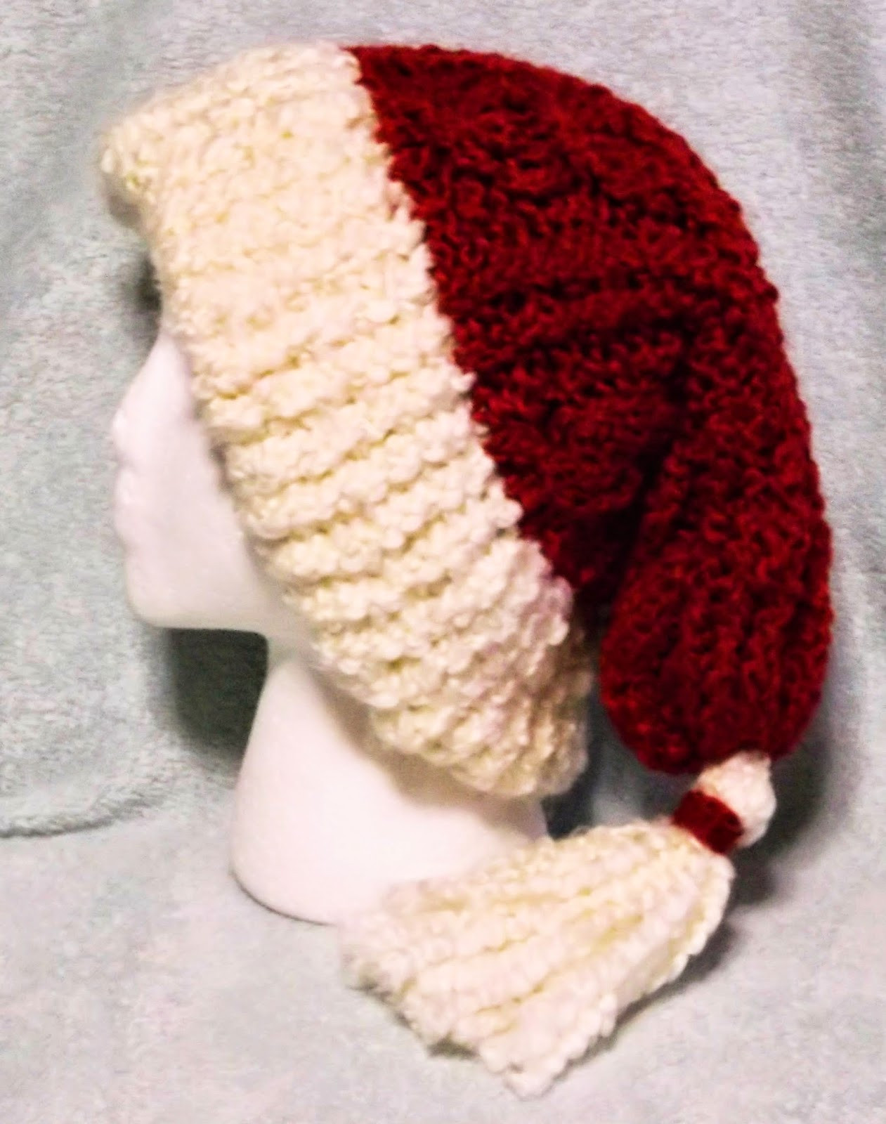 The Loom Muse How to Loom Knit a Cabled Santa Hat
