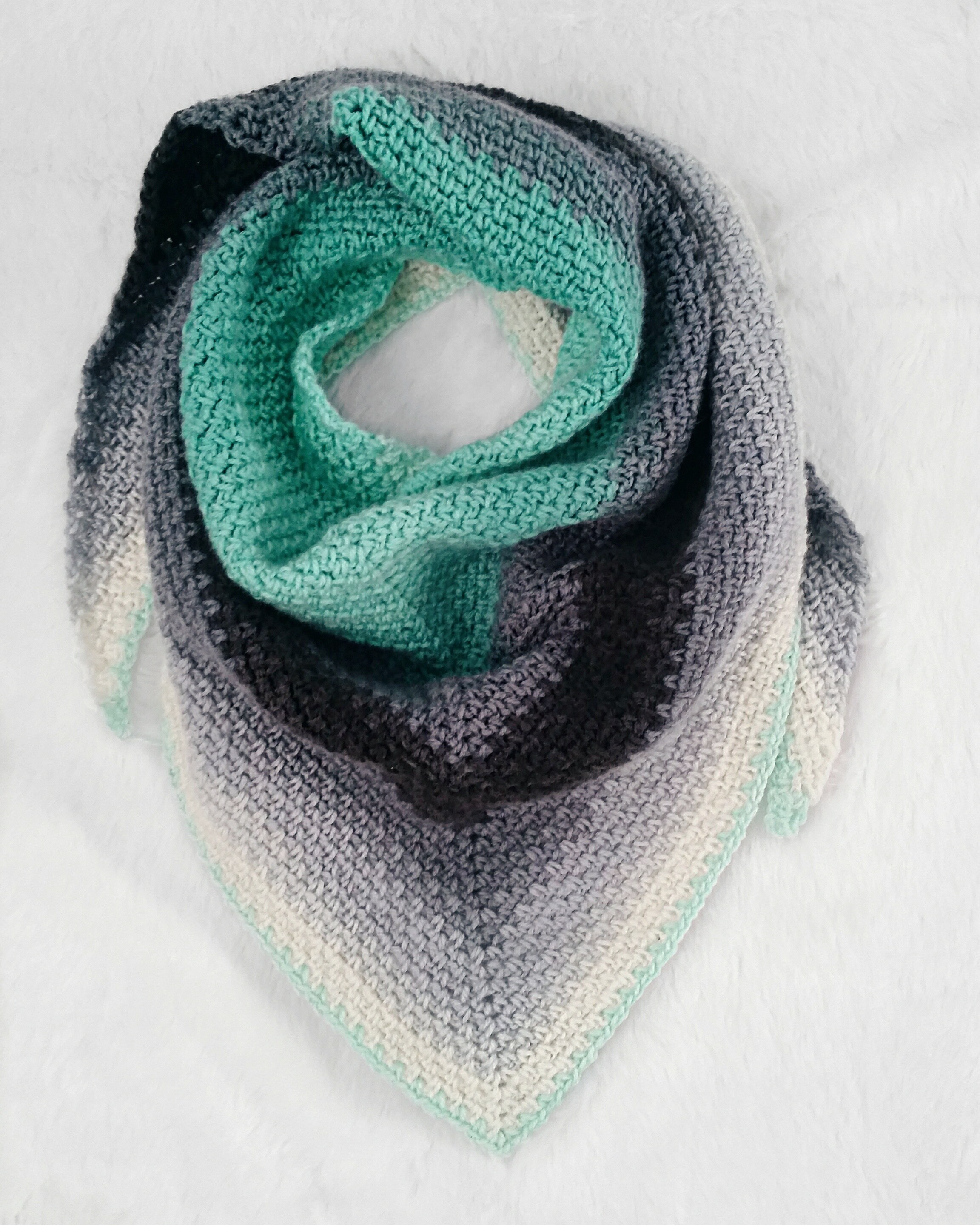 The Madeline Triangle Scarf Free Crochet pattern