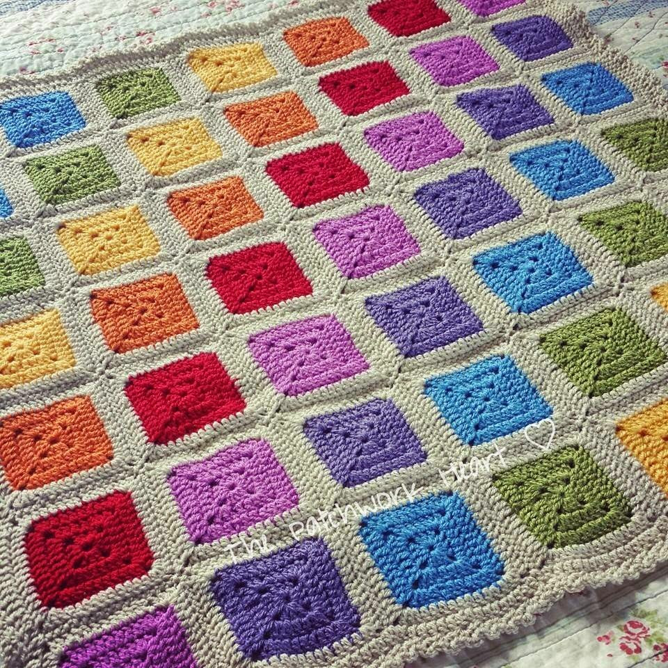 Beautiful the Patchwork Heart Rainbow Squares Rainbow Crochet Blanket Of Great 40 Photos Rainbow Crochet Blanket