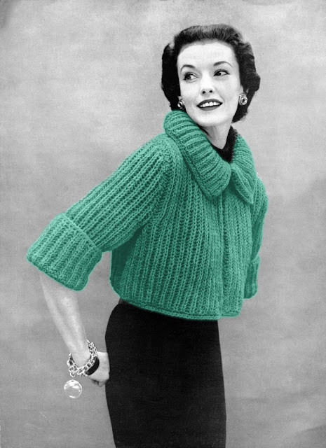 Beautiful the Vintage Pattern Files 1950s Knitting Chunky Knit Chunky Knit Sweater Pattern Of Top 45 Models Chunky Knit Sweater Pattern