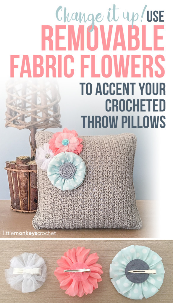Throw Pillow with Flower Accents