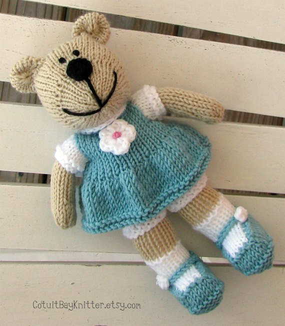 Beautiful toddler toy Hand Knit Teddy Bear Stuffed by Cotuitbayknitter Knit Stuffed Animals Of Beautiful 47 Pics Knit Stuffed Animals