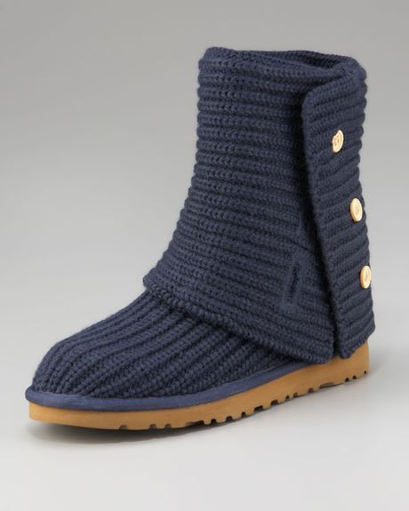Beautiful Ugg Classic Crochet Short Boot In Blue Navy Crochet Uggs Boots Of New 45 Ideas Crochet Uggs Boots