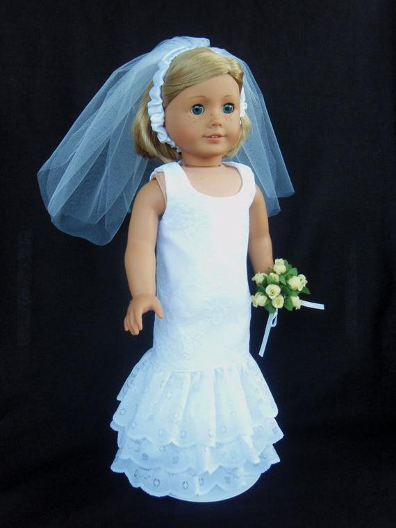 Beautiful Unavailable Listing On Etsy American Girl Doll Wedding Dress Of Beautiful American Girl Doll Wedding Dress Satin and Silver American Girl Doll Wedding Dress