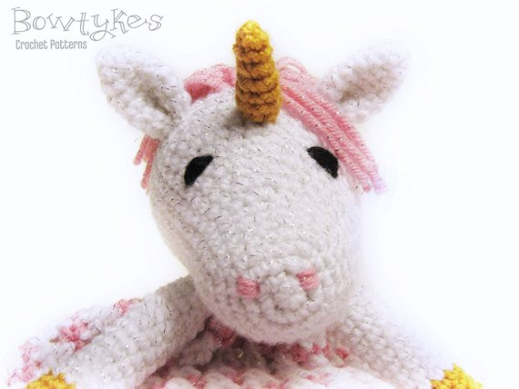 Beautiful Unicorn Lovey Crochet Pattern Instant Blankey Crochet Unicorn Blanket Pattern Of Marvelous 48 Photos Crochet Unicorn Blanket Pattern