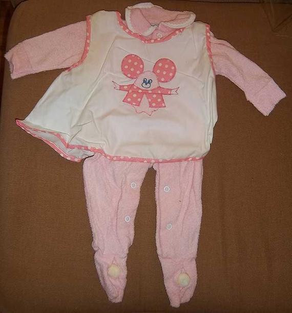 Beautiful Vintage 1970s Pink Baby Girl Pajamas with Feet by Baby Pajamas with Feet Of Delightful 40 Photos Baby Pajamas with Feet