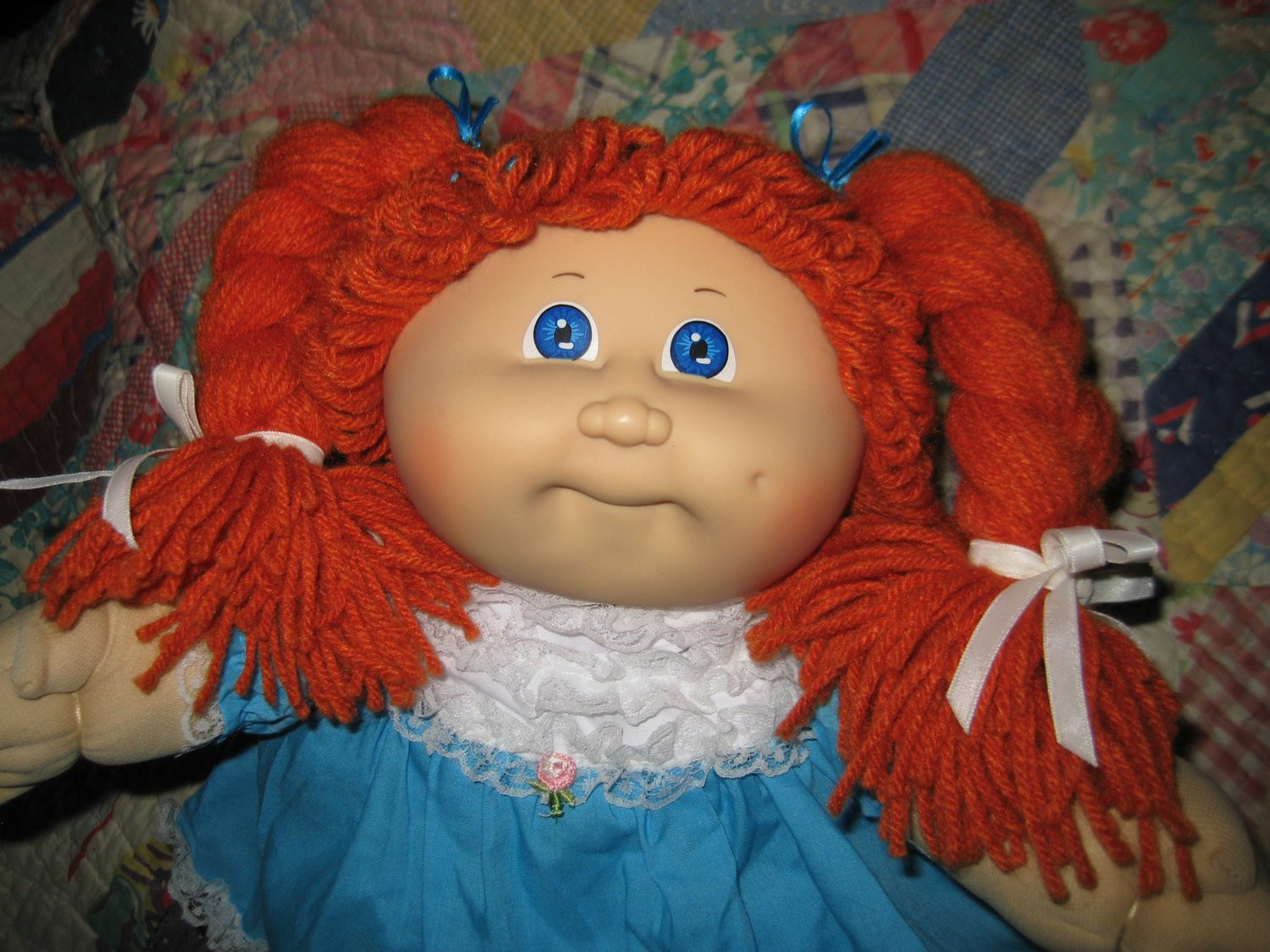 Vintage Cabbage Patch Kid Doll Ginger Red Hair Girl