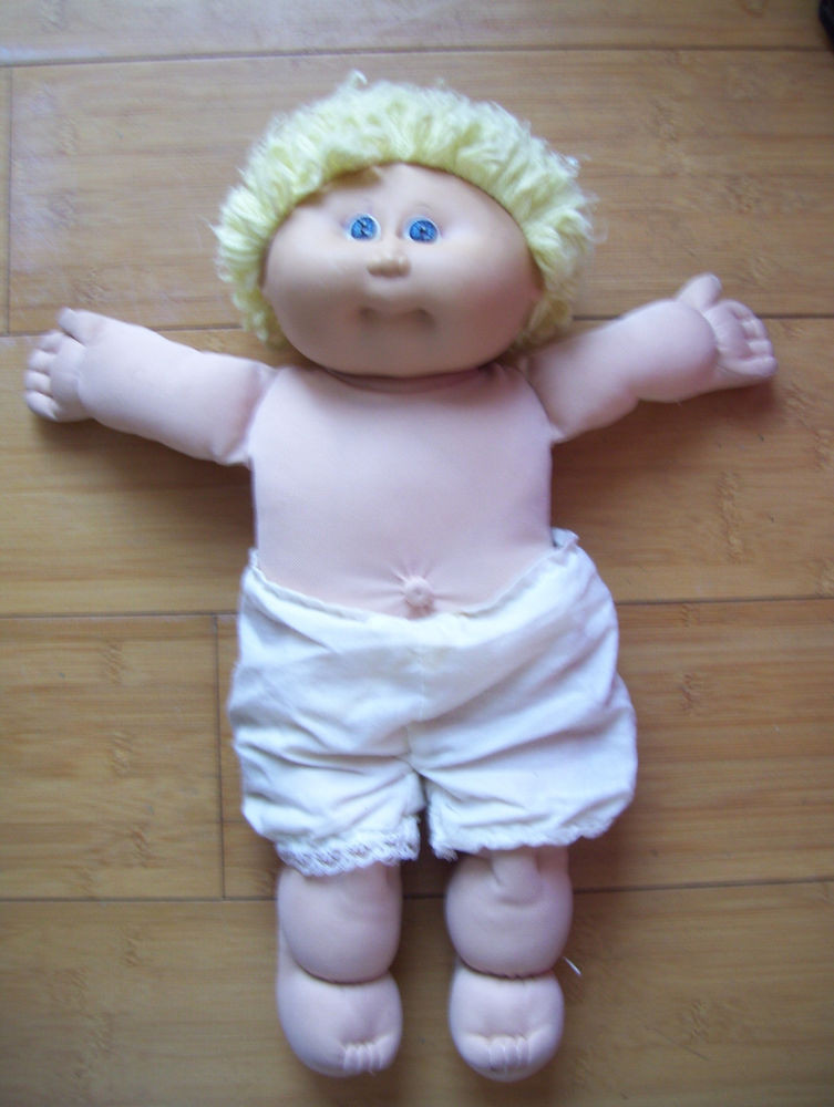 "Beautiful Vintage Coleco 16"" Tall Cabbage Patch Kids Doll Blond Hair Old Cabbage Patch Doll Of Wonderful 47 Ideas Old Cabbage Patch Doll"