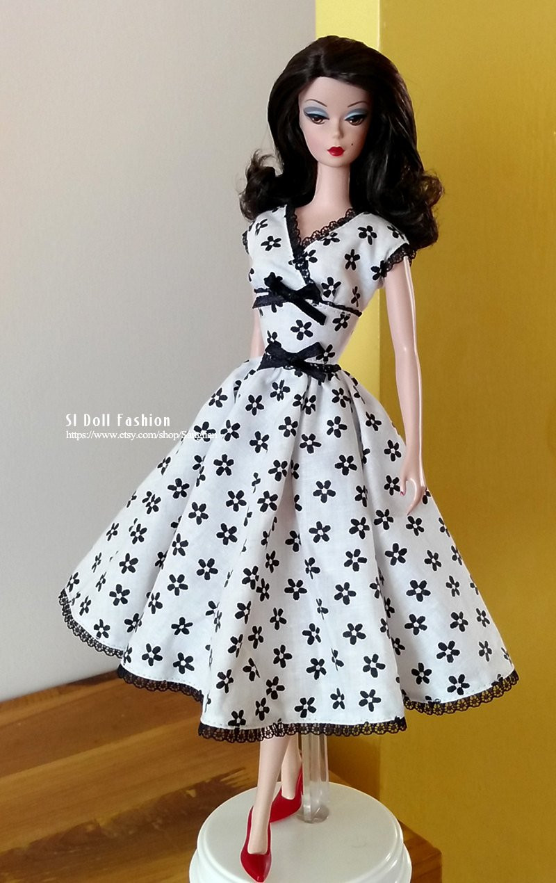 Beautiful Vintage Dress Pdf Pattern with Instruction Download for Barbie Doll Patterns Of Superb 40 Pics Barbie Doll Patterns