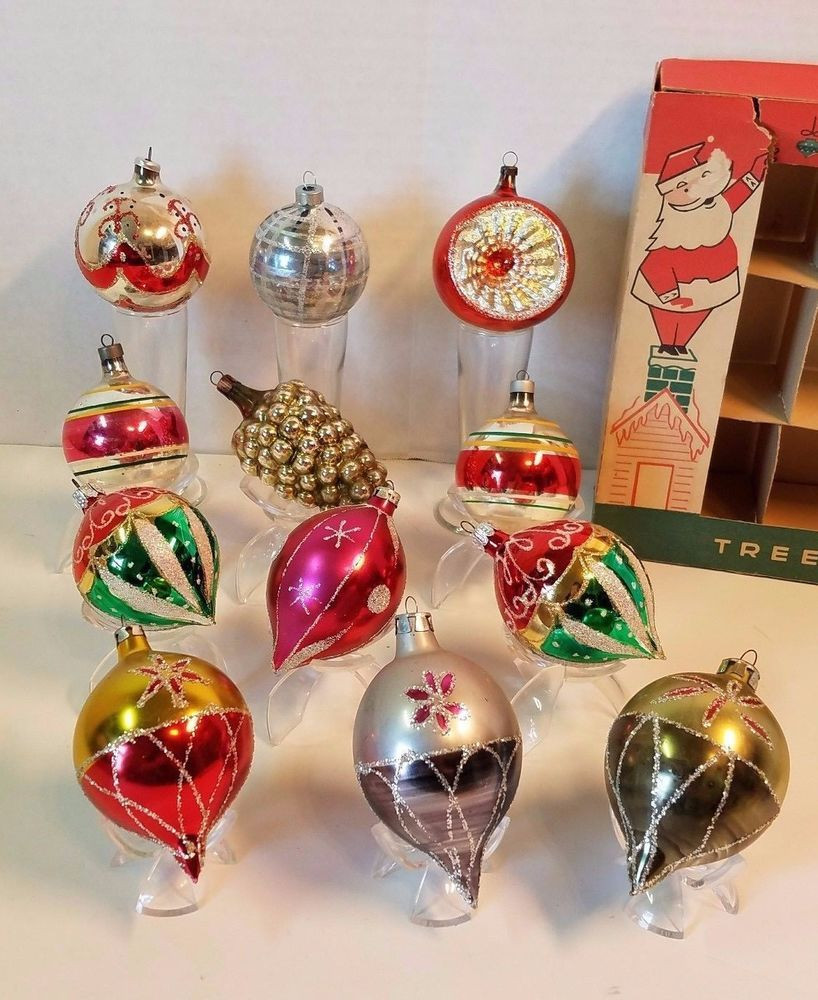 Beautiful Vintage Glass Christmas Ball ornament Mercury Indent Mica Vintage Glass ornaments Of New 48 Ideas Vintage Glass ornaments