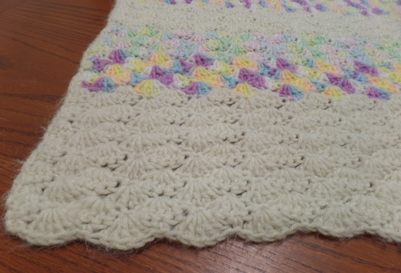 Beautiful Vintage Hand Knit Crochet Shell Pattern Baby Nursery Crochet Shell Baby Blanket Of Lovely 50 Ideas Crochet Shell Baby Blanket