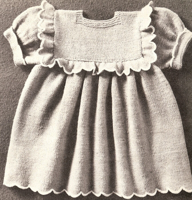 Beautiful Vintage Knitting Pattern to Make Baby toddler Dress Ruffle Baby Dress Knitting Pattern Of Amazing 40 Models Baby Dress Knitting Pattern
