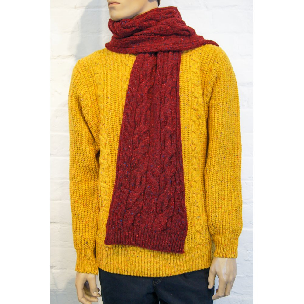 Beautiful Viyella Donegal Wool Cable Knit Scarf Viyella From Cable Knit Scarf Of Delightful 48 Ideas Cable Knit Scarf