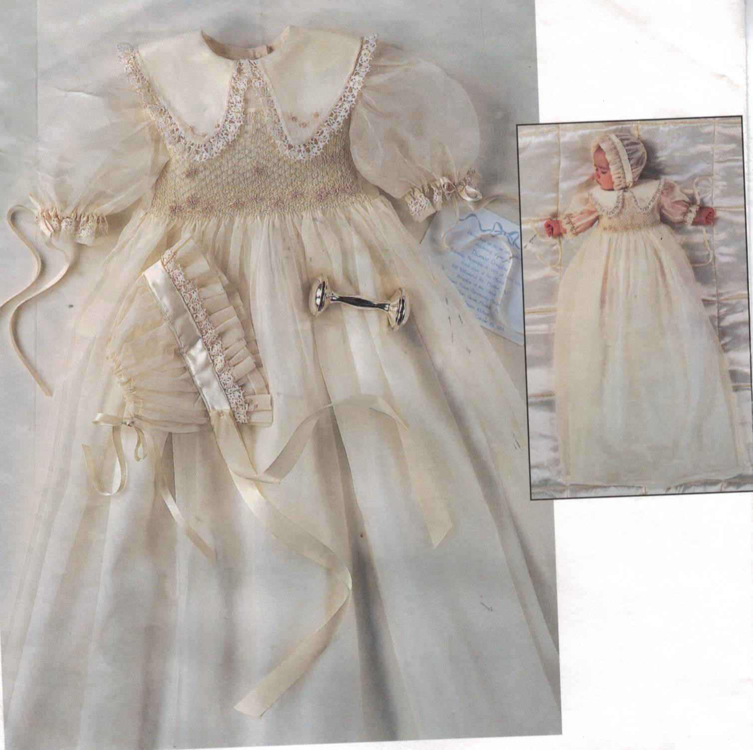 Beautiful Vogue Pattern 1755 Smocked Heirloom Collection Baptism Christening Dress Patterns Of Awesome 43 Ideas Christening Dress Patterns