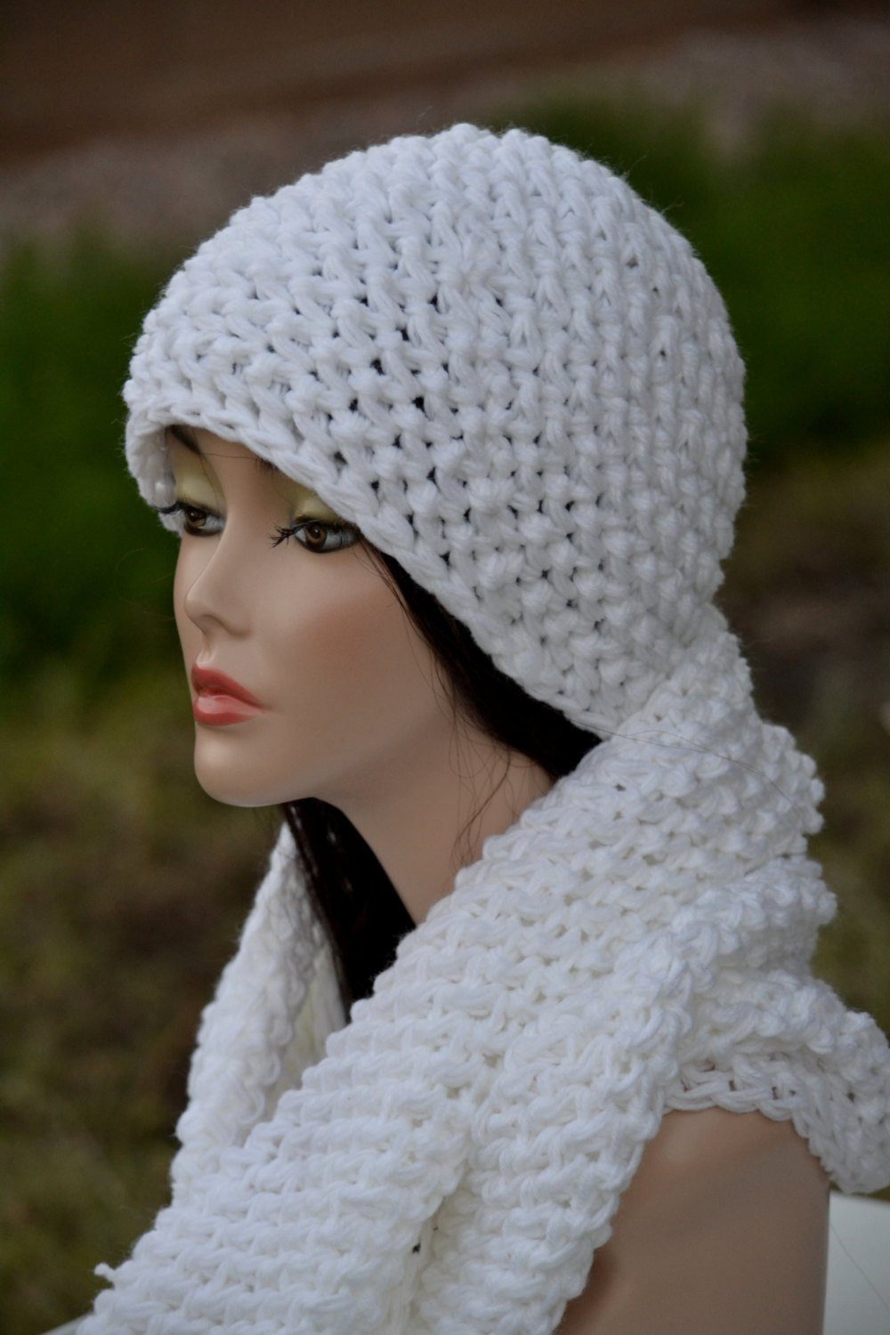Beautiful White Hat and Infinity Scarf Set Crochet Hat and Scarf Crochet Hat and Scarf Of Superb 50 Pics Crochet Hat and Scarf