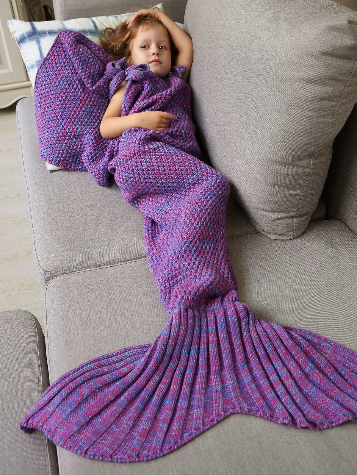 Beautiful Winter Knitted Sleeping Bag Bedding Mermaid Blanket Knitted Mermaid Blanket Of Great 41 Images Knitted Mermaid Blanket