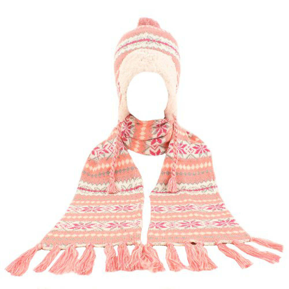 Beautiful Winter Warm Up soft Berber Lined Snowflake Knit Big Girls Children's Scarves Of New 48 Pictures Children's Scarves