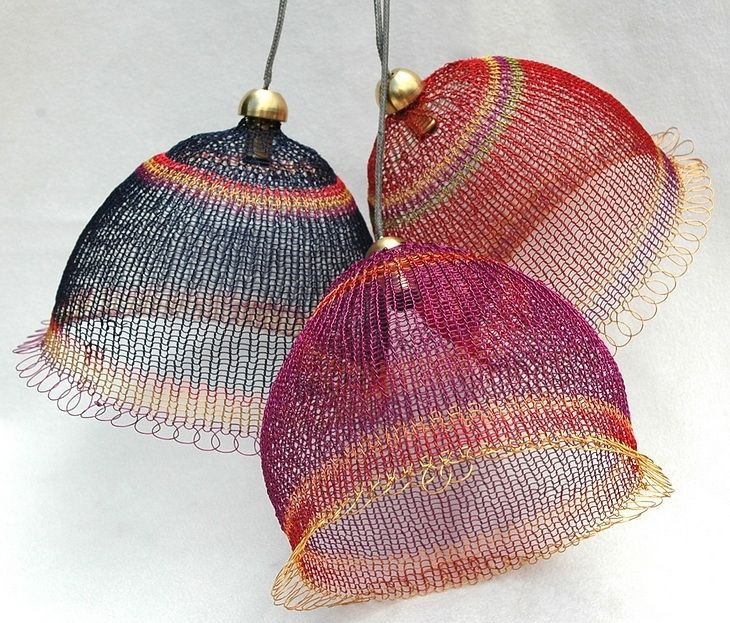 Beautiful Wire Knit Lightshades Lampshade Wire Knitting Of Unique 44 Images Wire Knitting