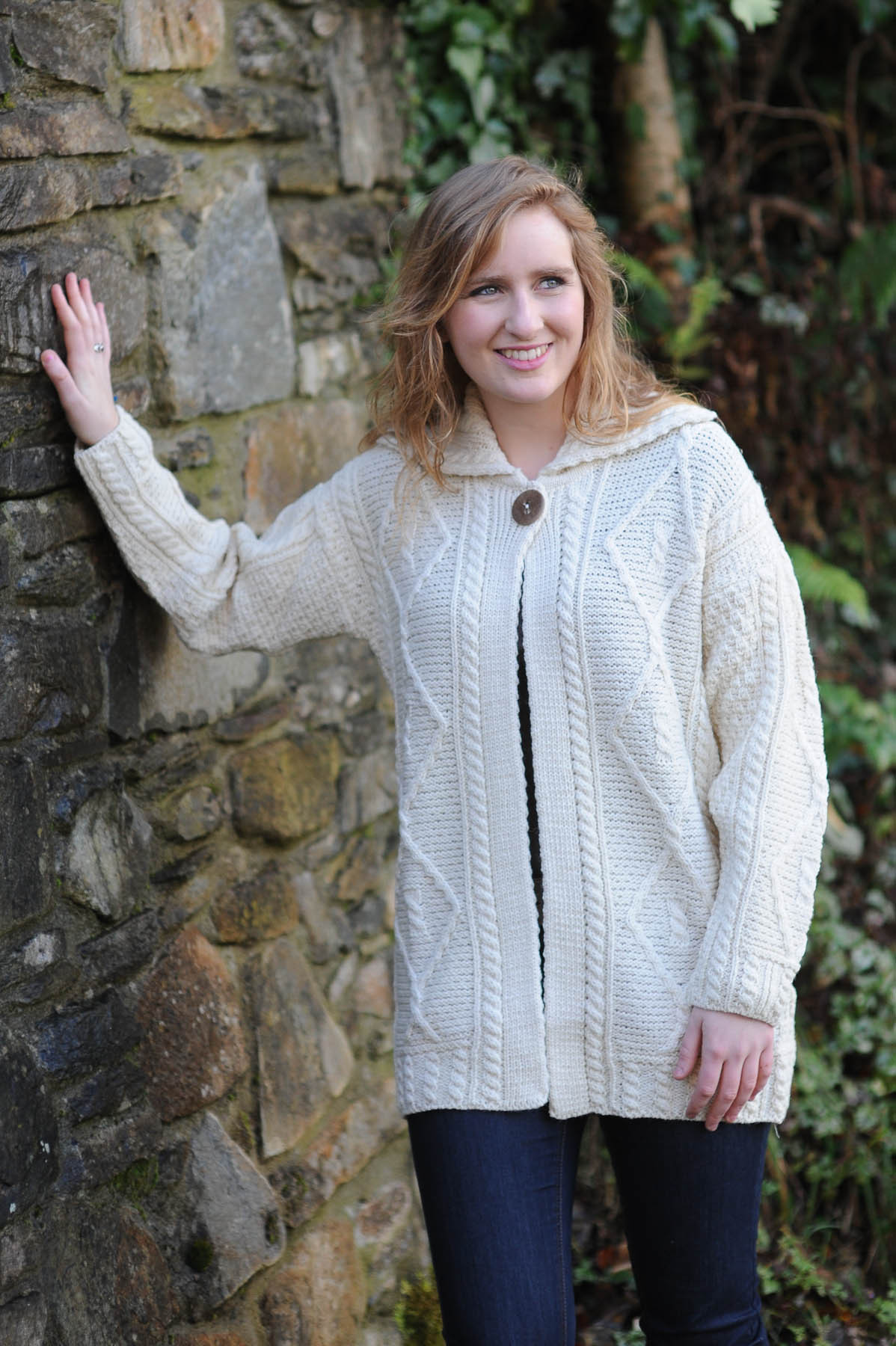 Womens Aran Sweaters Ireland Bronze Cardigan