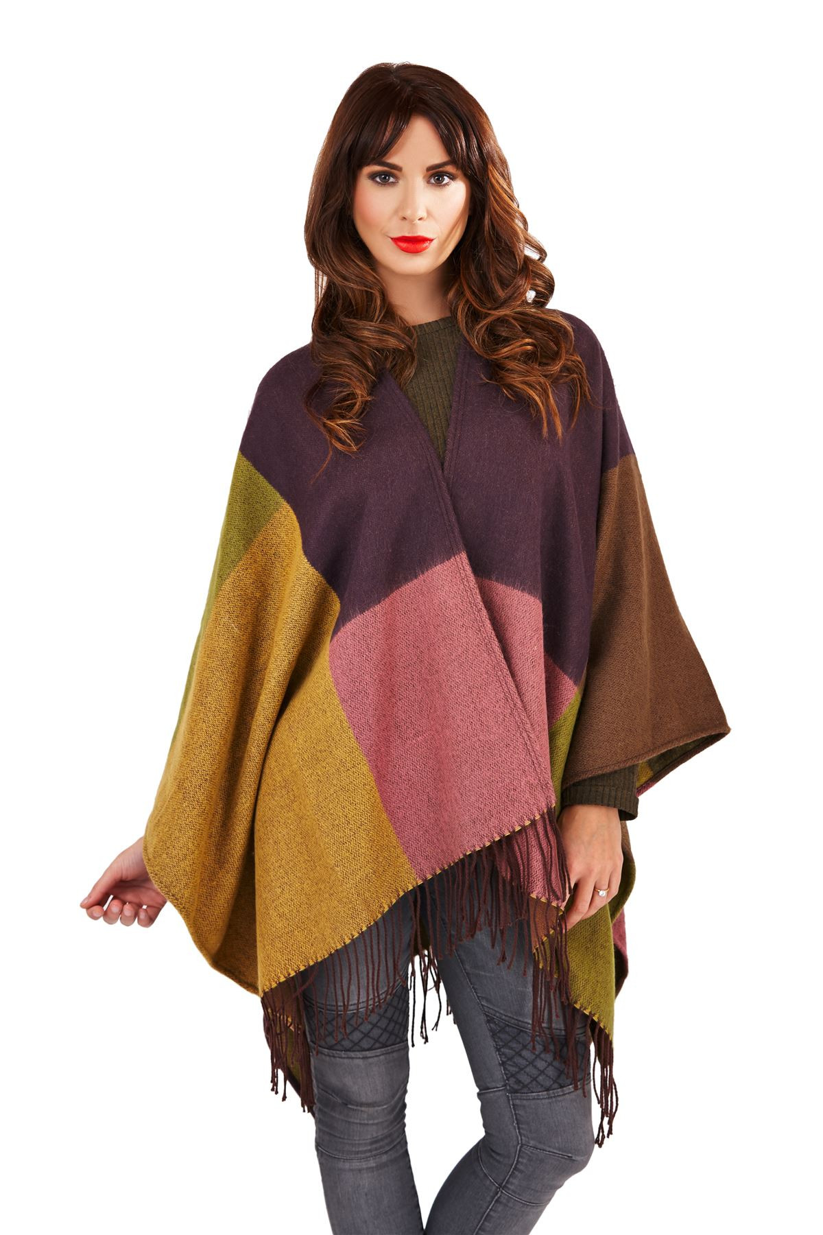 Beautiful Womens La S Knitted Cape Wrap Winter Tartan Check Knitted Shawl Wrap Of Superb 49 Images Knitted Shawl Wrap