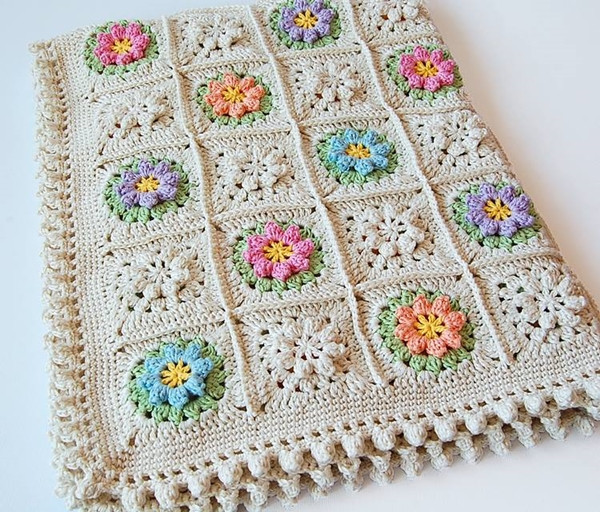 Beautiful Wonderful Diy Crochet Flower Granny Squares Crochet Flower Square Of Brilliant 47 Models Crochet Flower Square