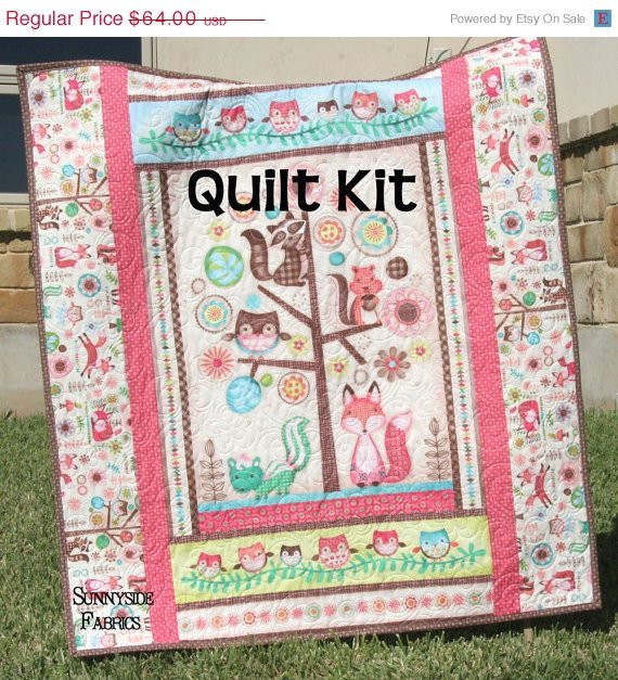 Beautiful Woodland Girl Quilt Kit Baby Blanket Sewing by Baby Blanket Kits Of Delightful 48 Pictures Baby Blanket Kits