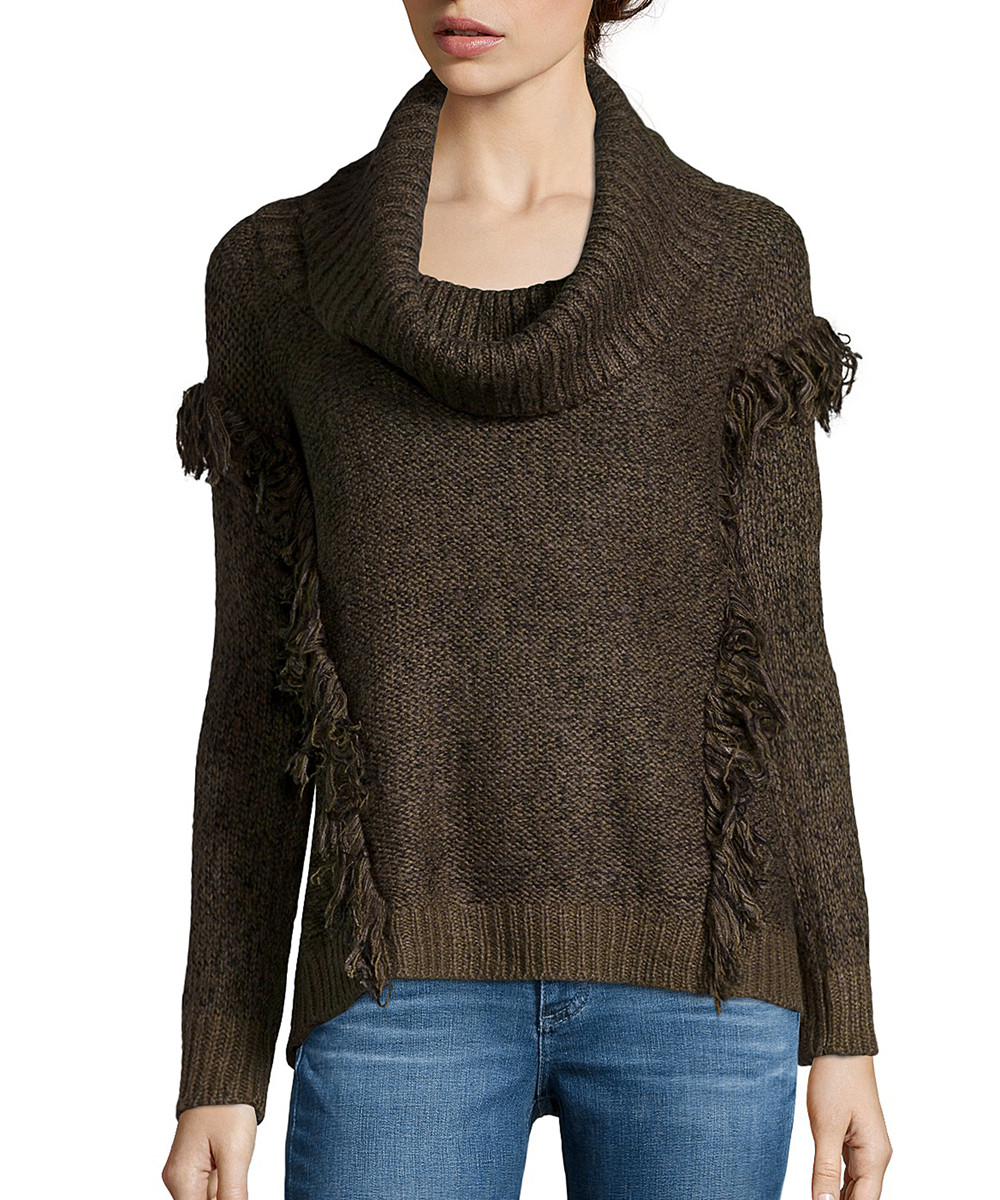 Beautiful Wyatt Moss Knit Cowl Neck Fringe Sweater Cowl Neck Knit Sweater Of Top 42 Pictures Cowl Neck Knit Sweater