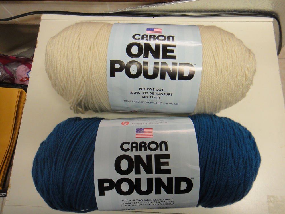 YARN CARON ONE POUND OCEAN OR OFF WHITE 4 PLY