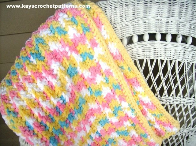 Quick and Easy Crochet Pattern Baby Blanket Instant Digital