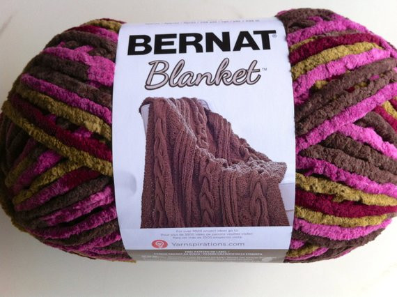 PLUM CHUTNEY Bernat Blanket Yarn Big 10 5oz Skein
