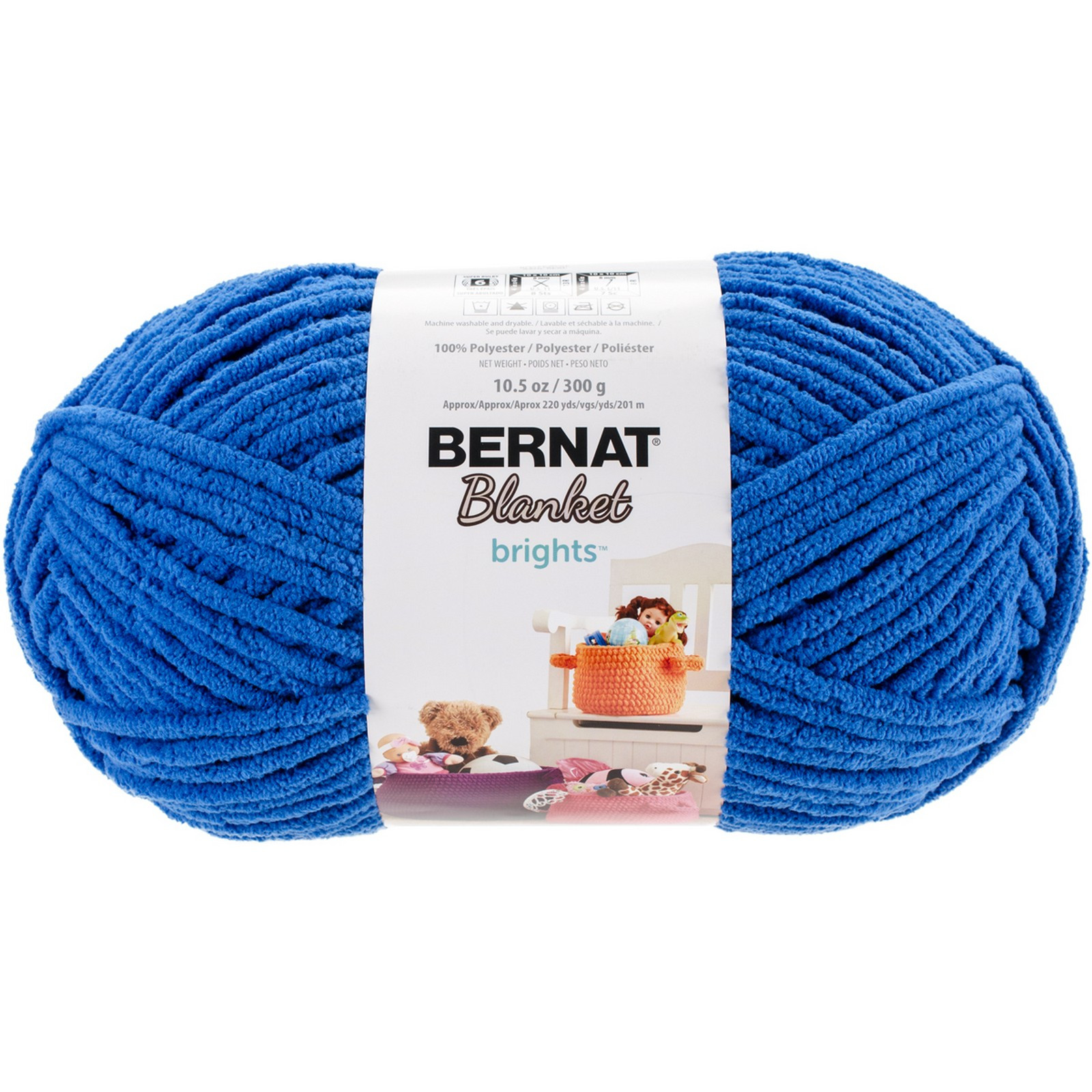 Bernat Blanket Brights Big Ball Yarn Royal Blue