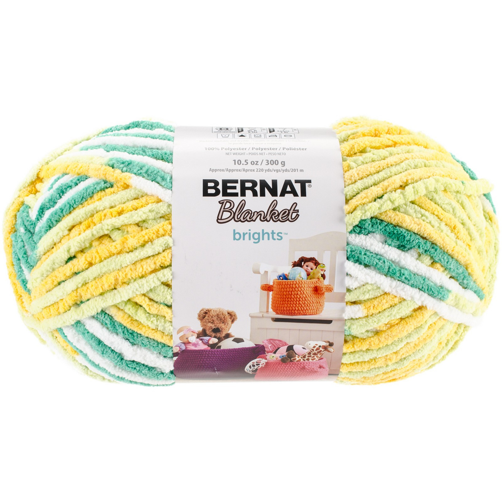 Bernat Blanket Brights Best Of Bernat Blanket Brights Big Ball Yarn Lemonade Variegated Of Amazing 42 Pictures Bernat Blanket Brights