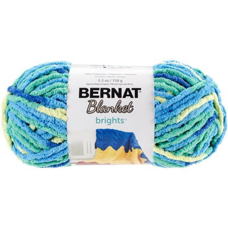 Bernat Blanket Brights Yarn Surf Variegated Walmart