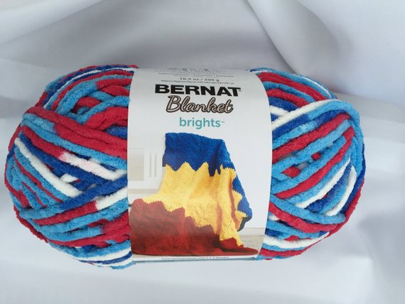 Bernat Blanket Brights Fresh Bernat Blanket Brights Red White & Boom Yarn Big 10 5 Of Amazing 42 Pictures Bernat Blanket Brights