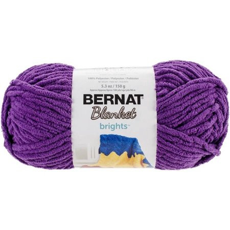 Bernat Blanket Brights Yarn Pow Purple Walmart
