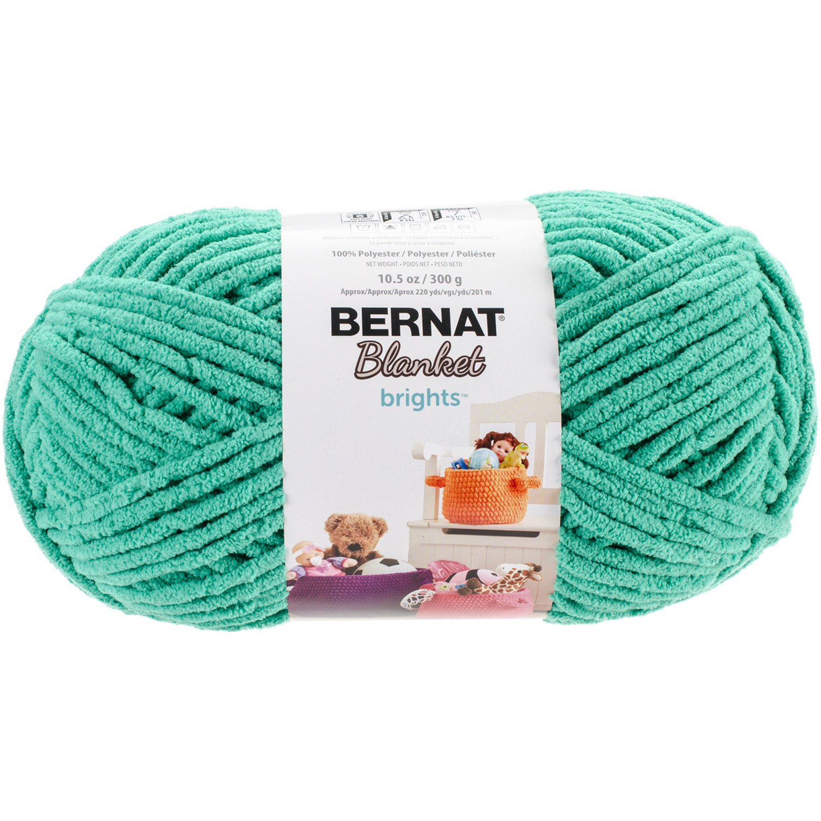Bernat Blanket Brights Big Ball Yarn Go Go Green