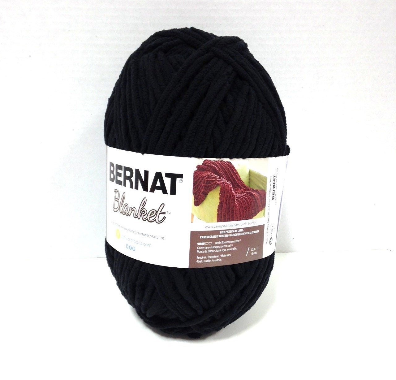 Bernat Blanket Yarn Inspirational Bernat Blanket Yarn In Coal Black 300 Gram Ball New Home Of Beautiful 42 Models Bernat Blanket Yarn